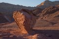 View of timna national park at sunset Royalty Free Stock Images