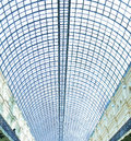 View to blue glass airport ceiling Royalty Free Stock Photography