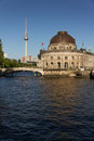 View to the Bodemseum and TV tower in Berlin Stock Photos
