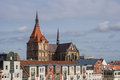 View to a church in rostock germany Royalty Free Stock Images