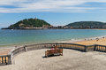 View to the city San Sebastian or Donostia. Royalty Free Stock Photo