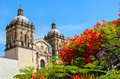 View to the domes of the Church and former monastery Royalty Free Stock Photo