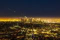 View to downtown Los Angeles with zoom effect Royalty Free Stock Photo