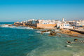 View to Essaouira old city and ocean , Morocco Royalty Free Stock Photo