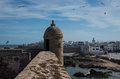 View to Essaouira old city rampant and ocean from Scala du Port Royalty Free Stock Photo