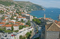 The view to the harbor of Dubrovnik in Croatia Royalty Free Stock Photo