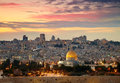View to Jerusalem old city. Royalty Free Stock Image
