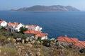 View to Kastelorizo island from Turish coast Stock Images