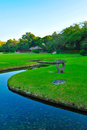View to korakuen garden in Okayama Royalty Free Stock Photo
