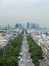 View to la defense down paris france june Stock Photo