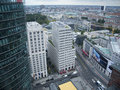 View to the leipziger platz from above berlin germany september panoramic tower on potsdamer berlin covered sky Royalty Free Stock Photo