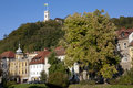 View to Ljubljana Castle  in Autumn Royalty Free Stock Photography