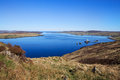 View to loch ewe bay from the hill scotland uk Stock Photos