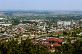 View to lvov city from bird s eye view beautiful the house tops in Stock Photography