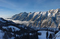 View to the Mountains from Snowbird ski resort in Utah, USA Royalty Free Stock Photo