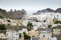 View to muscat in oman on a cloudy day Royalty Free Stock Images