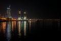 View to night Baku city Royalty Free Stock Photo