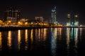 Night Baku city Royalty Free Stock Photo