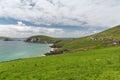 View to ocean at wild atlantic way in ireland Royalty Free Stock Photo