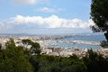 View to palma de mallorca the harbor and beaches area of Stock Images