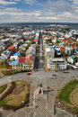 View to Reykjavik downtown, Iceland Stock Photos