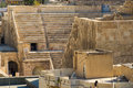 View to the roman theatre a half birds eye ancient in jordan s capital amman Stock Photography