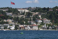 A view to sea at bosphorus other side adile sultan palace on calm day Stock Photo