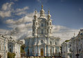 View to smolny cathedral sankt petersburgh russia Royalty Free Stock Photos
