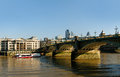 View to southwark bridge london Stock Images