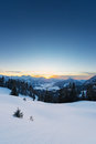 View to sunset in austrian alps Royalty Free Stock Photo