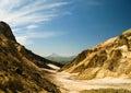 View to Viluchinsky volcano from the caldera of Mutnovsky, Kamchatka Royalty Free Stock Photo