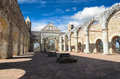 View to the yard of convento de cuilapam in oaxaca Royalty Free Stock Images