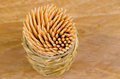 View of toothpicks wooden in a high angle viewpoint take Stock Images
