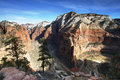 View from top of Angels Landing Stock Image