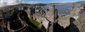 View from top of Conwy castle Stock Images