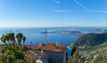 View top exotic garden eze provence region france Stock Photo