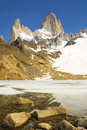 View on top of Fitz Roy Royalty Free Stock Photography