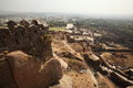 View from top of Golkonda Fort, Hyderabad Stock Image
