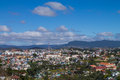 View from top of the hill at dalat town Royalty Free Stock Photo