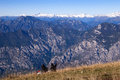 View from the top of Monte Baldo Stock Image