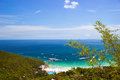 View from the top of the mountain in koh lan thailand Royalty Free Stock Images
