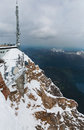 View from the top of the Zugspitze Royalty Free Stock Photo
