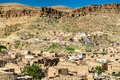 View of Toujane, a Berber mountain village in southern Tunisia Royalty Free Stock Photo