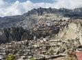 View toward El Alto in La Paz