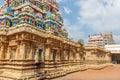 View of tower at Ramaswamy temple, Kumbakonam, Tamilnadu, India - Dec 17, 2016