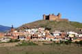 View of town and castle, Lacalahorra, Spain. Royalty Free Stock Photography