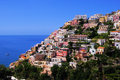 View of the town of positano amalfi coast italy Stock Image