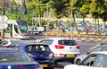 View on the traffic in mordern Jerusalem, Israel Royalty Free Stock Photo