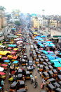View of the traffic from the top of Charminar Stock Photography