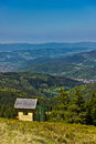 View from trail to the pilsko peak from beskidy mountains poland Royalty Free Stock Photos